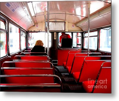 Bus For One Metal Print by Randall Weidner