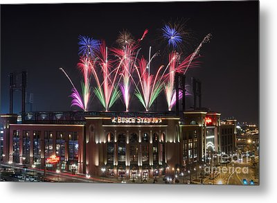 Busch Stadium Metal Print by Andrea Silies