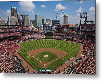Busch Stadium T. Louis Cardinals Ball Park Village National Anthem #3a Metal Print