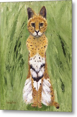 Metal Print featuring the painting Bush Cat by Jamie Frier