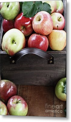 Metal Print featuring the photograph Bushel Of Apples  by Stephanie Frey