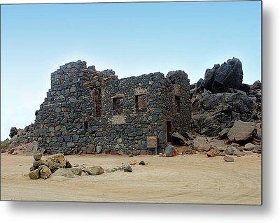 Bushiribana Gold Mill Ruins Of Aruba Metal Print by Design Turnpike