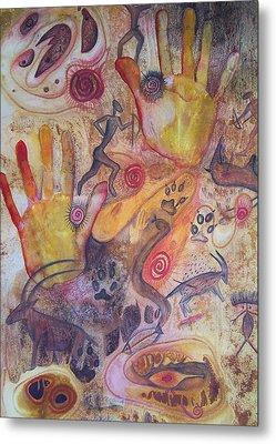 Bushman Comes Alive Metal Print by Vijay Sharon Govender