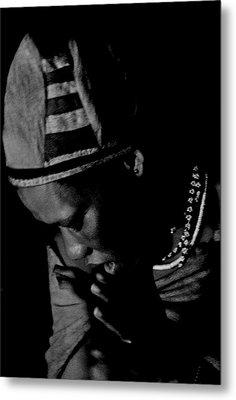 Bushmen Praying Woman Metal Print by Miranda  Miranda