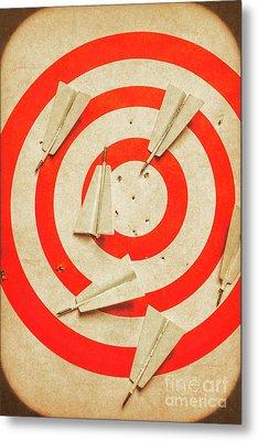 Business Target Practice Metal Print