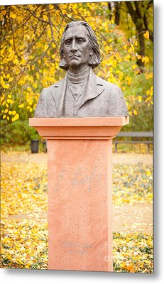 Bust Of Ferenc Liszt Composer Metal Print by Arletta Cwalina