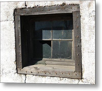 Busted Metal Print by Sheryl Burns