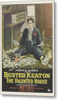 Buster Keaton In The Haunted House 1921 Metal Print by Mountain Dreams