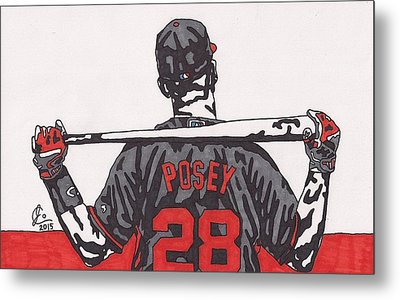 Buster Posey Metal Print by Jeremiah Colley