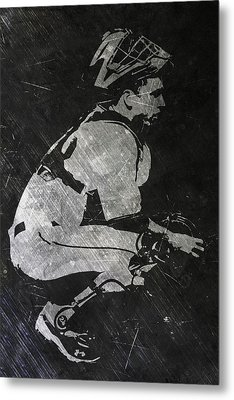 Buster Posey San Francisco Giants Art Metal Print by Joe Hamilton