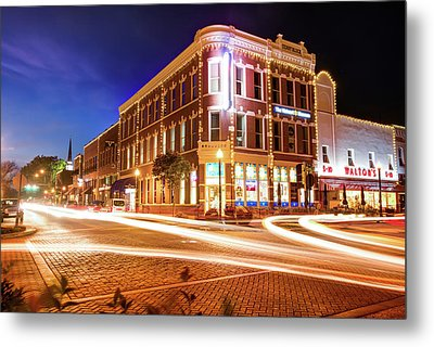 Busy Around Bentonville - Northwest Arkansas Metal Print by Gregory Ballos
