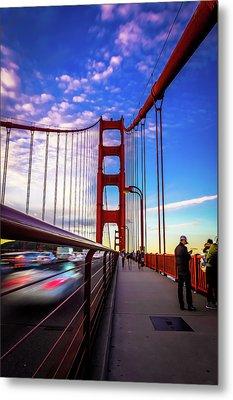 Busy Bay Bridge Metal Print by Phil Fitzgerald