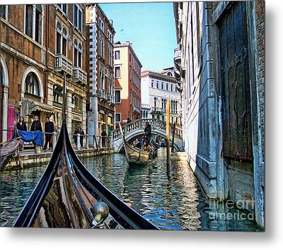 Metal Print featuring the photograph Busy Canal by Roberta Byram