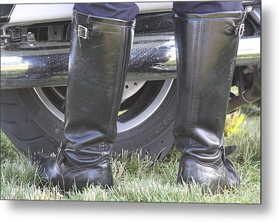 But Officer... Metal Print by Lauri Novak