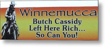 Butch Cassidy Metal Print