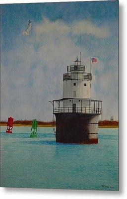 Butler Flats Lighthouse Metal Print by Ron Sylvia