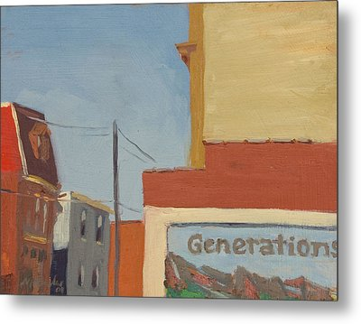 Butler Street Afternoon Metal Print by Martha Ressler