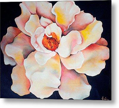 Butter Flower Metal Print by Jordana Sands