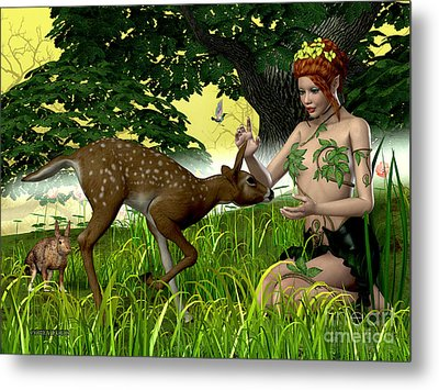 Buttercup Fairy And Forest Friends Metal Print by Corey Ford