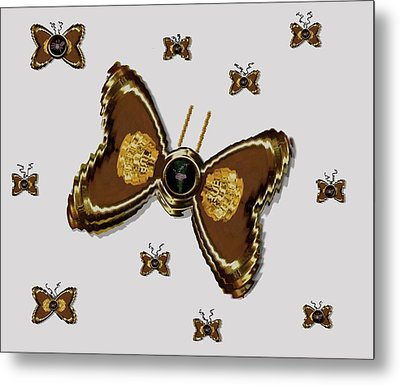 Butterflies For The Worlds  Future Metal Print by Pepita Selles