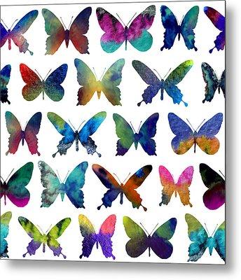 Butterflies Metal Print by Varpu Kronholm