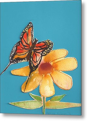 Metal Print featuring the painting Butterflower by Denise Fulmer