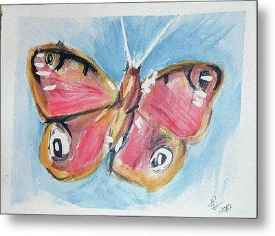 Butterfly 3 Metal Print by Loretta Nash