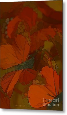 Butterfly Abstract Metal Print by Deborah Benoit