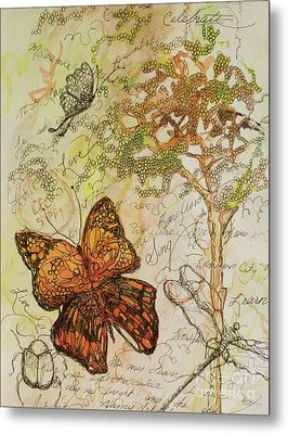 Butterfly Art Journal Metal Print by Michele Hollister - for Nancy Asbell