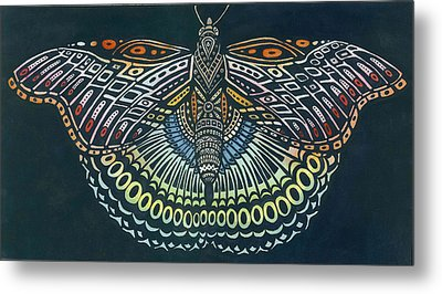 Butterfly Bits Metal Print by Anne Havard