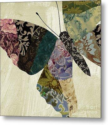 Butterfly Brocade I Metal Print