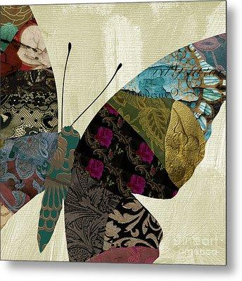 Butterfly Brocade II Metal Print