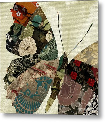Butterfly Brocade IIi Metal Print