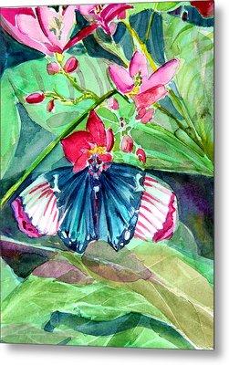 Butterfly Buffet Metal Print by Mindy Newman