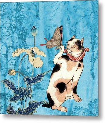 Butterfly Charmer Metal Print