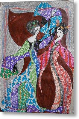 Butterfly Dance Metal Print by Helene  Champaloux-Saraswati