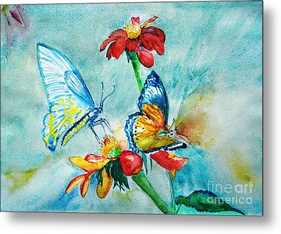 Butterfly Dance Metal Print by Jasna Dragun