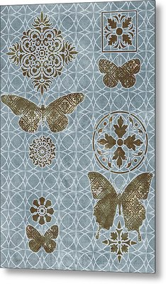 Butterfly Deco 1 Metal Print
