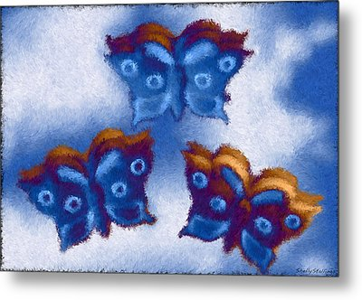 Metal Print featuring the photograph Butterfly Dreams by Shelly Stallings
