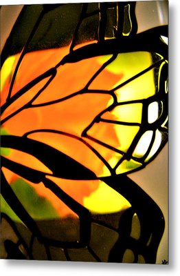 Butterfly Florals  Collection C Metal Print by Debra     Vatalaro