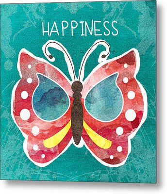 Butterfly Happiness Metal Print
