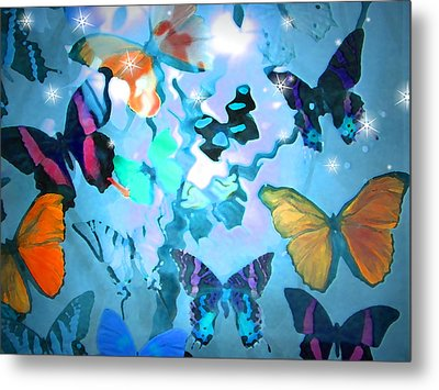 Metal Print featuring the photograph Butterfly Heaven by Rosalie Scanlon