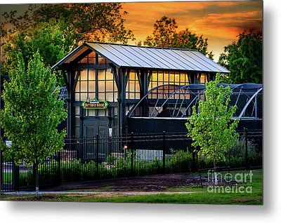Butterfly House At Sunset Metal Print by Tamyra Ayles