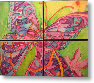 Butterfly Joy Metal Print by Marlene Robbins