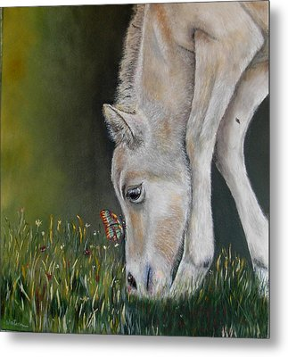 Metal Print featuring the painting Butterfly Kiss by Ceci Watson