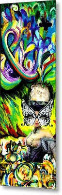 Butterfly Masquerade Metal Print by Genevieve Esson