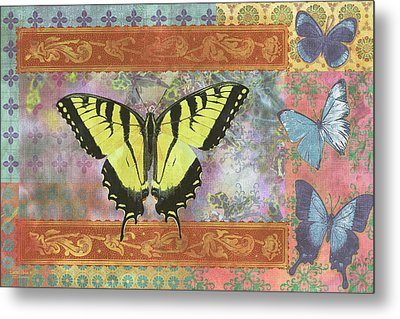 Butterfly Mosaic Metal Print by JQ Licensing