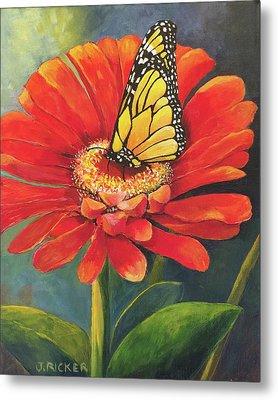 Butterfly Rest Metal Print