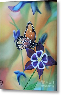Metal Print featuring the painting Butterfly Series#4 by Dianna Lewis