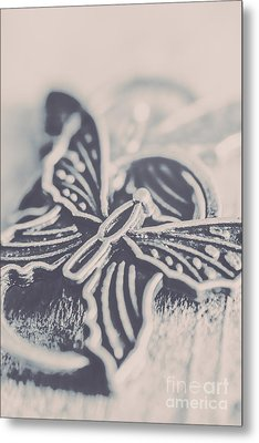 Butterfly Shaped Charm Metal Print